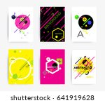 set of bright template for... | Shutterstock .eps vector #641919628