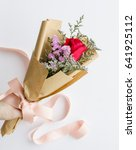 Small photo of Giving flowers to some one you care,love,honor,cherish,respect,congrats or special occasion / Say it with Flowers / Flowers offers more than just beauty and peace, also their fragrance and colors