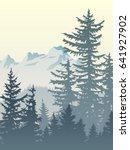 vertical illustration of foggy... | Shutterstock .eps vector #641927902