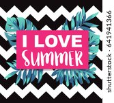 i love summer banner with... | Shutterstock .eps vector #641941366