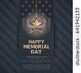 poster for memorial day.... | Shutterstock .eps vector #641942155