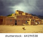 historic taos pueblo. this is... | Shutterstock . vector #64194538