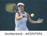 hua hin  thailand may 2 michika ... | Shutterstock . vector #641947456