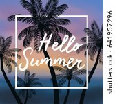 summer time  background. vector ... | Shutterstock .eps vector #641957296