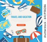 travel and vacation concept web ... | Shutterstock . vector #641958286