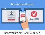 two steps authentication... | Shutterstock . vector #641960725