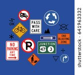 various signs vector | Shutterstock .eps vector #641963332