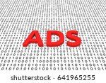 ads in the form of binary code  ... | Shutterstock . vector #641965255