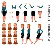 businesswoman  woman character... | Shutterstock .eps vector #641968918