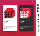 event ticket template with... | Shutterstock .eps vector #641974852