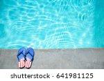 summer background with flip... | Shutterstock . vector #641981125