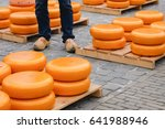 Pile Of Cheese In Gouda Cheese...