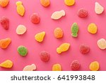 colorful gummy candies pattern...   Shutterstock . vector #641993848