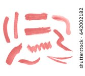 watercolor splashes. set of... | Shutterstock .eps vector #642002182