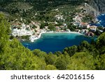 the village of assos on the... | Shutterstock . vector #642016156