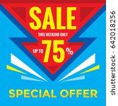 sale discount up to 75   ... | Shutterstock .eps vector #642018256