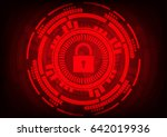 abstract malware ransomware... | Shutterstock .eps vector #642019936
