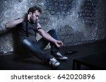 lonely dope user applying... | Shutterstock . vector #642020896