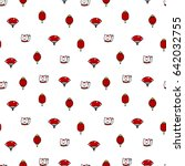 seamless pattern with lucky... | Shutterstock .eps vector #642032755