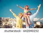 happy family traveling. people... | Shutterstock . vector #642040252