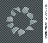 realistic shards of glass on a... | Shutterstock .eps vector #642043648
