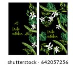 vertical vector banner of hand... | Shutterstock .eps vector #642057256