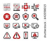 computer virus mal ware icon | Shutterstock .eps vector #642058015