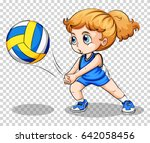volleyball player on... | Shutterstock .eps vector #642058456