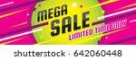mega sale discount   vector... | Shutterstock .eps vector #642060448