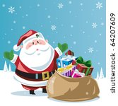 santa claus   toy bag | Shutterstock .eps vector #64207609