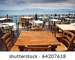 View Of Empty Outdoor Cafe In...