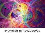 abstract fractal patterns and... | Shutterstock . vector #642080938