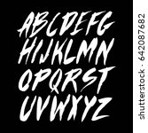 graphic font for your design.... | Shutterstock .eps vector #642087682