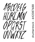 graphic font for your design.... | Shutterstock .eps vector #642087688