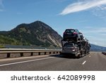 vehicles transported to... | Shutterstock . vector #642089998