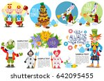 cute characters set from alice...   Shutterstock .eps vector #642095455