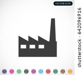 factory icon | Shutterstock .eps vector #642096916