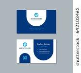 business card design trendy... | Shutterstock .eps vector #642103462
