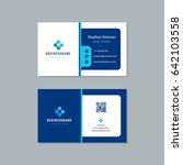 business card design trendy...   Shutterstock .eps vector #642103558
