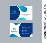 business card design trendy... | Shutterstock .eps vector #642103576