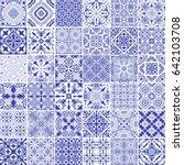 traditional ornate portuguese... | Shutterstock .eps vector #642103708