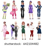 set of different professions ... | Shutterstock .eps vector #642104482