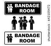 bandage room | Shutterstock .eps vector #642105472