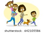 vector illustration of happy... | Shutterstock .eps vector #642105586
