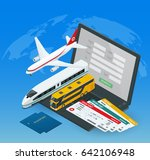 online purchase or booking of... | Shutterstock .eps vector #642106948