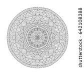 mandala coloring book for... | Shutterstock .eps vector #642108388