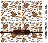 vector illustration on coffee ... | Shutterstock .eps vector #642109582
