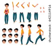 student  young man character... | Shutterstock .eps vector #642114916