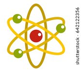 nucleus and orbiting electrons... | Shutterstock . vector #642122356