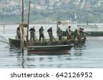 fisherman shack off the fishing ... | Shutterstock . vector #642126952